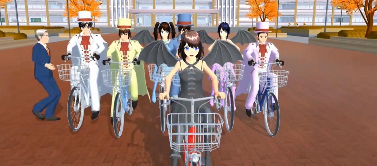 樱花校园模拟器单车版截图1