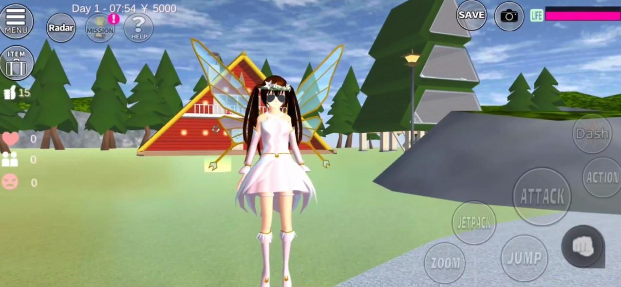 樱花校园模拟器1.038.08圣诞节截图1