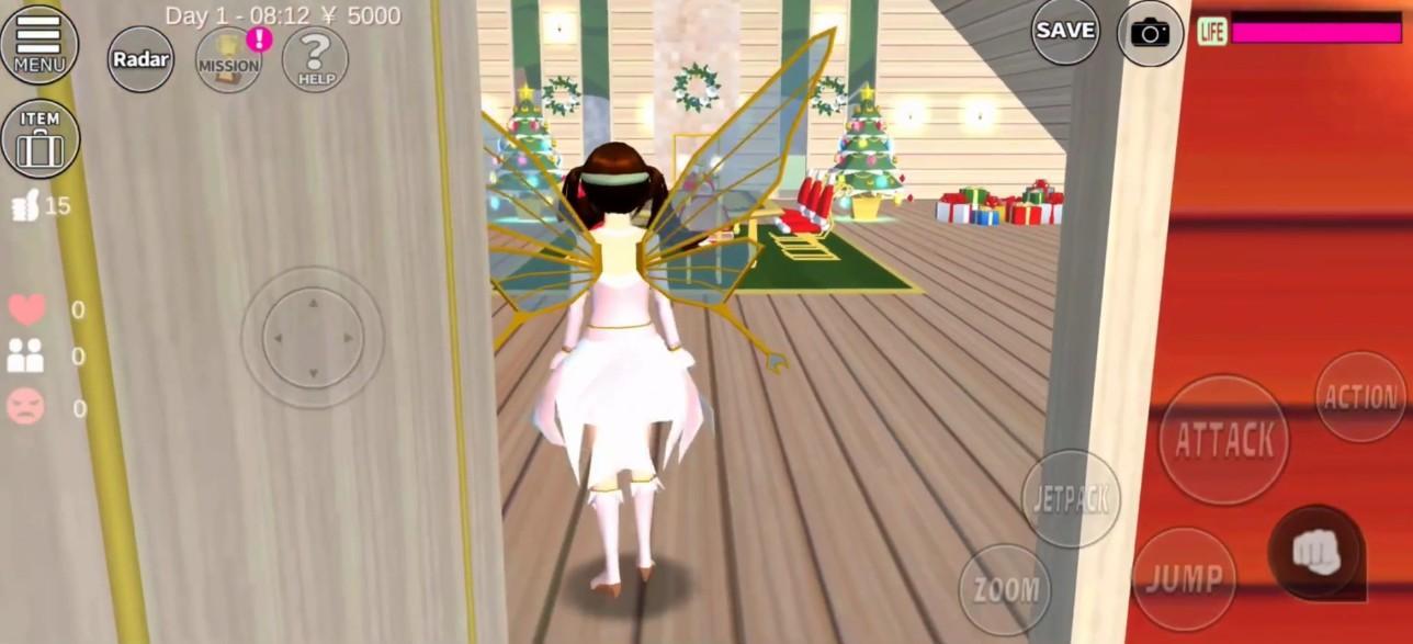 樱花校园模拟器1.038.08圣诞节截图5