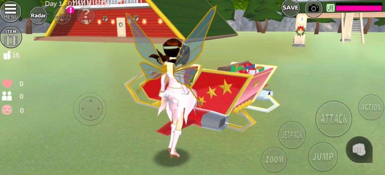 樱花校园模拟器冰晶宫殿版截图5