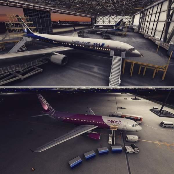 《微软飞行模拟》全新截图 东京成田国际机场场景细节